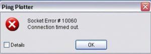 Outlook Connect Error 10060